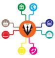 Business icons flat communication