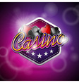 casino with poker symbols and shiny t vector image vector image