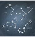 chalk zodiac constellation symbols set on vector image vector image