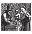 circumcision of jesus vintage vector image vector image