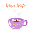 cute cup of tea vector image vector image