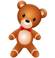 cute teddy bear on the white background vector image vector image