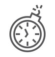 deadline line icon time and clock stopwatch sign vector image vector image