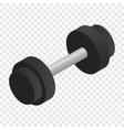 Dumbbell isometric 3d icon vector image vector image
