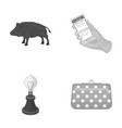 ecology fauna technologyand other monochrome vector image vector image