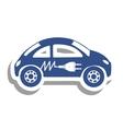 electric car icon image vector image