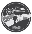 extreme outdoor adventure badge high mountains vector image vector image