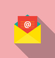 Flat Design E-mail Icon vector image