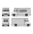 food truck template for car advertising vector image