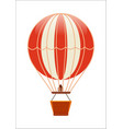 free flying balloon isolated icon vector image vector image