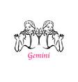 gemini woman vector image