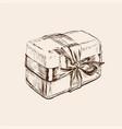 gift box hand drawn birthday vector image