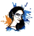 Girl ink hipster vector image vector image