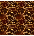 Golden baroque swirls on red luxury seamless vector image vector image
