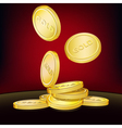 golden coins background vector image vector image