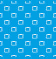 graphic tablet pattern seamless blue vector image vector image