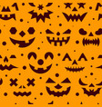 halloween horror face seamless pattern vector image