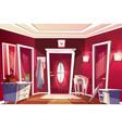 hallway corridor room interior vector image vector image