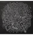 Hand-drawn chalkboard doodles Musical vector image