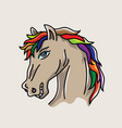 head horse cartoon vector image vector image
