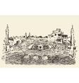 Holy Kaaba Mecca Saudi Arabia muslim drawn vector image vector image