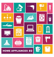 home appliances icons in flat style vector image