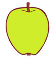 isolated flat apple vector image