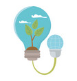 isolated light bulb and save energy design vector image