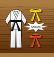 kung fu sport game to competition vector image