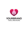 lab heart logo design concept template vector image