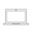 Laptop outline icon Linear vector image vector image