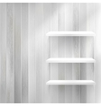Layers Blank light wooden shelf EPS10 vector image vector image