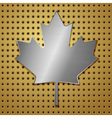 leaf of steel vector image vector image
