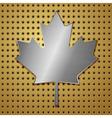 leaf steel vector image vector image
