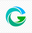 letter g blue and green icon vector image