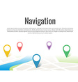 Map with a pin isolated on white vector image vector image