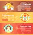 medical and health banners set sexology vector image vector image