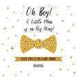 oh boy textbashower with gold stars bow tie vector image