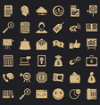 online marketing icons set simple style vector image vector image