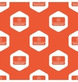 Orange hexagon mediaplayer pattern vector image vector image