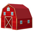 red barn in 3d design vector image vector image