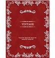 Red Vintage Background with Floral vector image