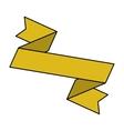 ribbon banner yellow design icon vector image vector image