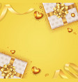 romantic background with bow and ribbon vector image vector image