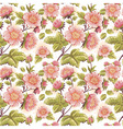 Romantic feminine seamless texture with flowers vector image vector image