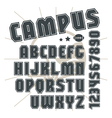 Sans serif font in college style vector image vector image