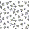 seamless floral pattern with tiny leaves hand vector image vector image