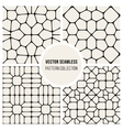 Seamless Pavement Pattern Collection vector image