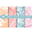 set marble purple patterns for design vector image