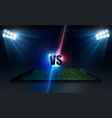 soccer arena field with bright stadium lights vector image vector image